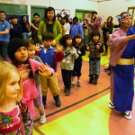 Awa Dance Group with Students